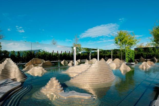 """Berlin, Marzahn, Gaerten der Welt, IGA, """"The Garden  of the  Mind"""" (er Garten des Geistes), Thailand"""